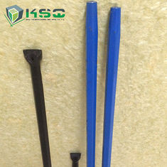 Mining Integral Rock Drill Steel Rod , Quarrying Plug Hole Drill Rod
