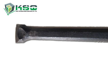 Steel Integral Drill Rod , rock drill rods with chisel tungsten carbide tips