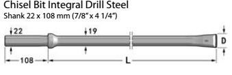 Durable Integral Drill Rod / Stone Drilling Tools For Coal Cutting / Tunneling