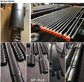 T38 / T45 Extension MF Threaded Drill Rod With 10ft / 12ft Length For Benching