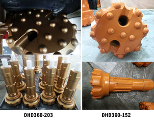 6 Inch High Air Pressure DHD360 Drill Bit And Hammer For Down The Hole Rock Drilling