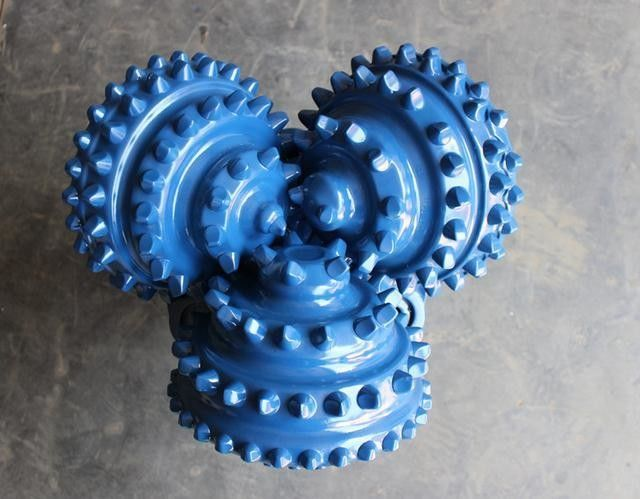 Water / Oil Well Drilling Tricone Rock Bit High Strength Forging Processing