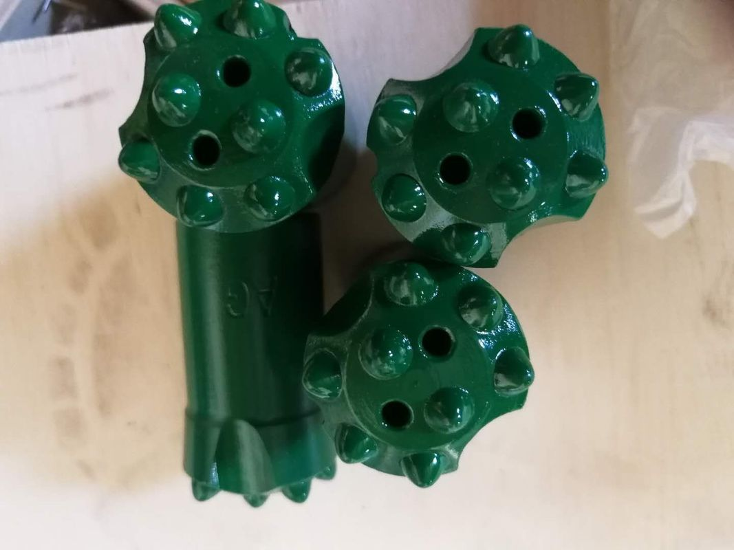 12 Degrees Tapered Button Drill Bit 32mm High Wear Resistance Heat Treatment