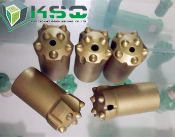 Quarry tapered button drill bit , SGS 6 degree button bits rock drilling