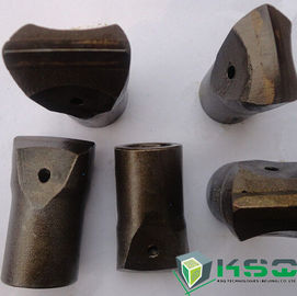 Tungsten Carbide Chisel Rock Bit 34 mm Green / Black For Mining