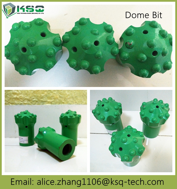 R32 76mm T38 T45 T51 Dome Carbide Drill Bits For Mining / Construction
