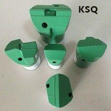 Green Tapered Rock Drilling Tools / Oblique Flat Chipways Hammer Drill Chisel Bit
