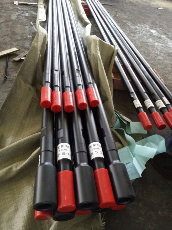 12 Feet Rod Threaded Drill Rod 3660mm Length Speed Rod For Long Hole Rock Drill