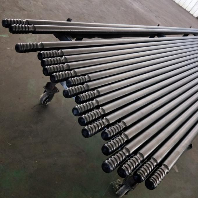 T38 T45 T51 Threaded Drill Rod MF Extension Drill Rod with 400mm - 5530mm Length
