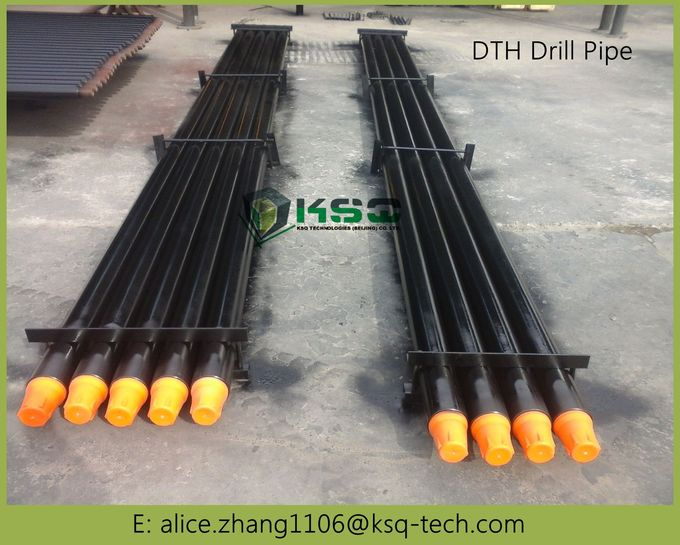 High Grade Steel DTH Drilling Tools API Standard Drilling Pipe with Wrench Flat