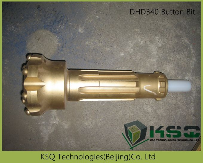 4 inches high pressure Drilling Bits/Crowns DTH Button Bits Of Diameter 110-133 Mm Convex / Concave/Flat face DHD340