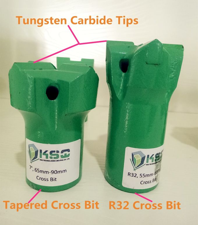 Tungsten Carbide Cross Bits Chisel Drill Bits Broca De Cincel Broca Cruzada Bottom Broca