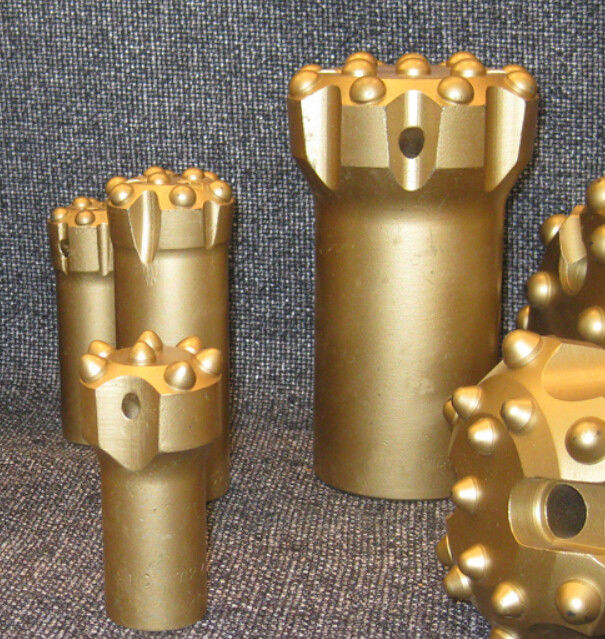 T38 T45 T51 Tungsten Carbide Drill Bits With Spherical / Ballistic Buttons